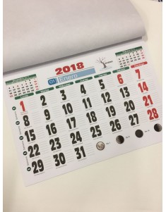 Faldilla de calendario, 2019, 435mm